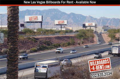Best rates for Billboards near Airport and Las Vegas Strip